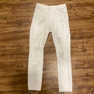 Express distressed high rise ankle leggings 8
